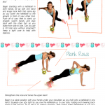 Kettlebell Printable Workout: Skate Lunges and Plank Rows