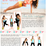Free Printable Kettlebell Workout: Skate Cross Lunges, Clean & Press